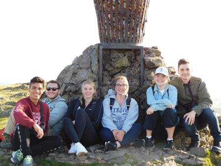 Students on Dumyat summit